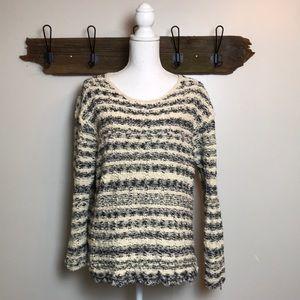 J Jill Sweater Chunky Knit Oversized Stripe Size L